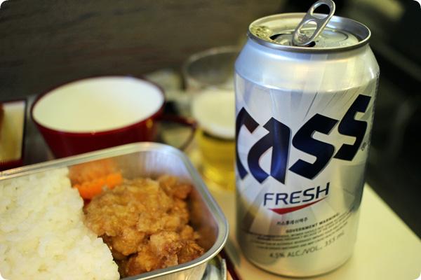 アシアナ航空の韓国ビール