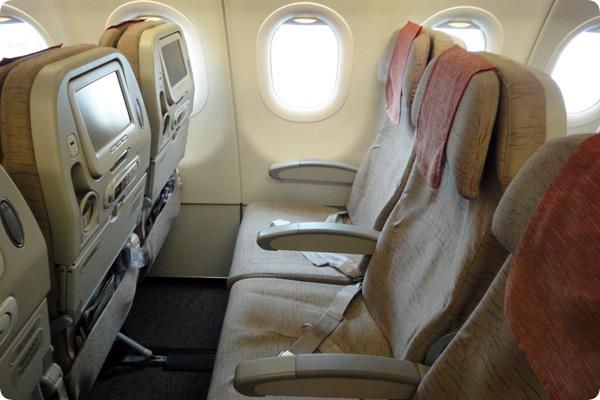 アシアナ航空の座席