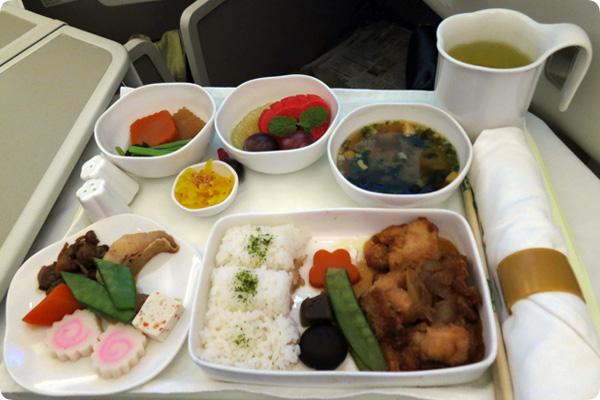 ベトナム航空ビジネスクラスの和食