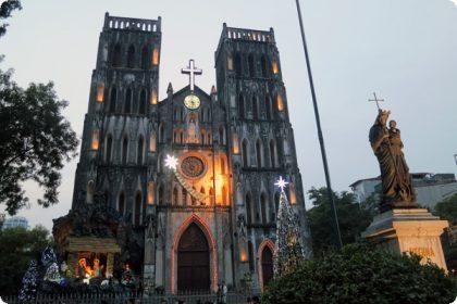 ハノイ大教会ライトアップ
