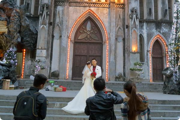 ハノイ大教会結婚記念写真撮影