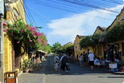 ホイアン旧市街の町並み